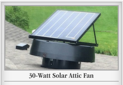 30 Watt Solar Attic Fan